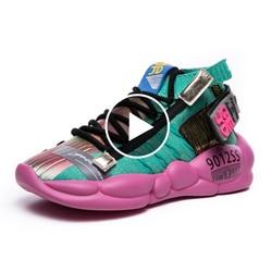 Женские кроссовки на вулканизированной платформе Fujin, мягкие вязаные дышащие кроссовки на весну и лето 2020