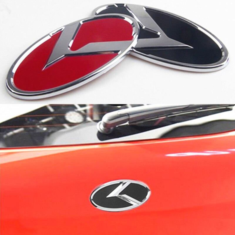 Rear Trunk 3Color Emblem for KIA Optima 2017+ 3D K Logo Front