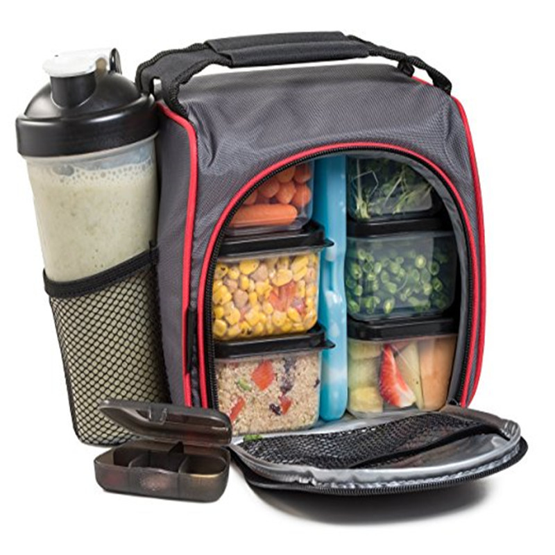2020 Waterproof Picnic food lunch ice bag insulated Portable Fabric Thermal Cooler Bag Volume Storage Bag include plastic box