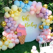 Macaroon-Balloons Garland Party-Decor Arch-Happy-Birthday Baby Shower Latex Kids Chain