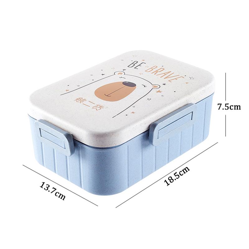 TUUTH Cute Cartoon Lunch Box Microwave Dinnerware Food Storage Container Children Kids School Office Portable Bento Box B6