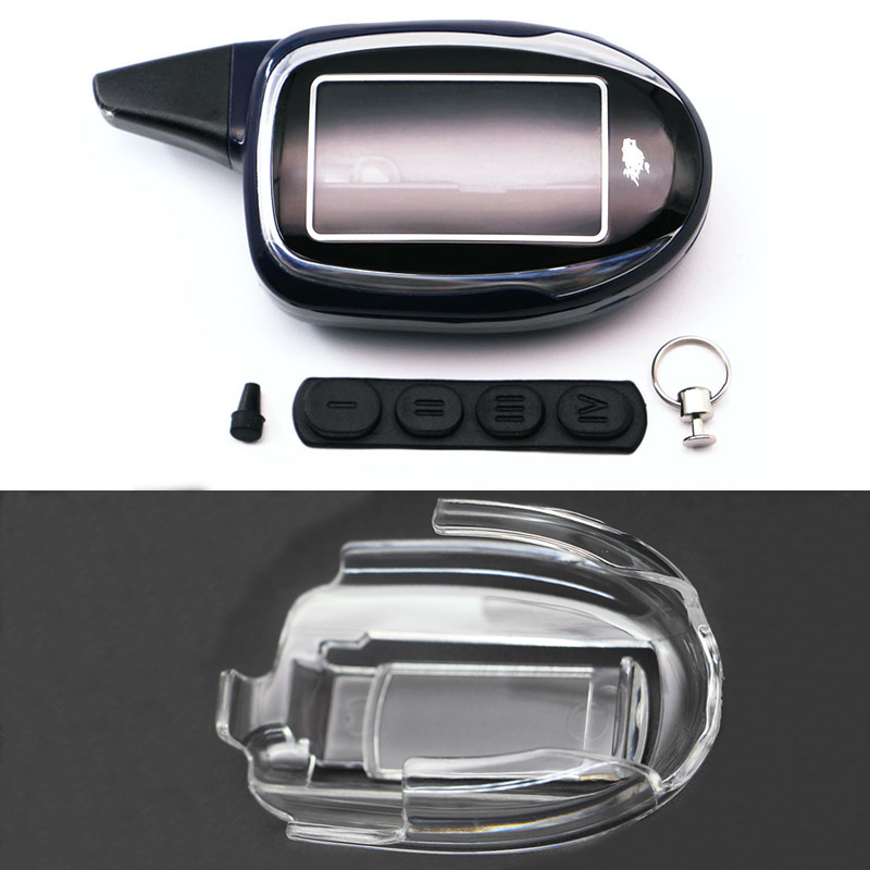 Keychain Car-Alarm Scher-Khan Magicar-7 Remote-Control Shell for 2-Way M8 M9 M10/M11/M12/.. title=