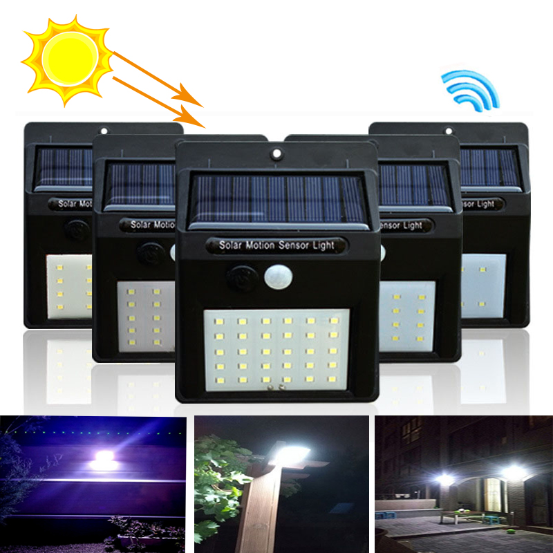LED Solar Light PIR Motion Sensor Wall Light Luz solar led 20/30 LEDs Outdoor Waterproof Energy Saving for Street Garden