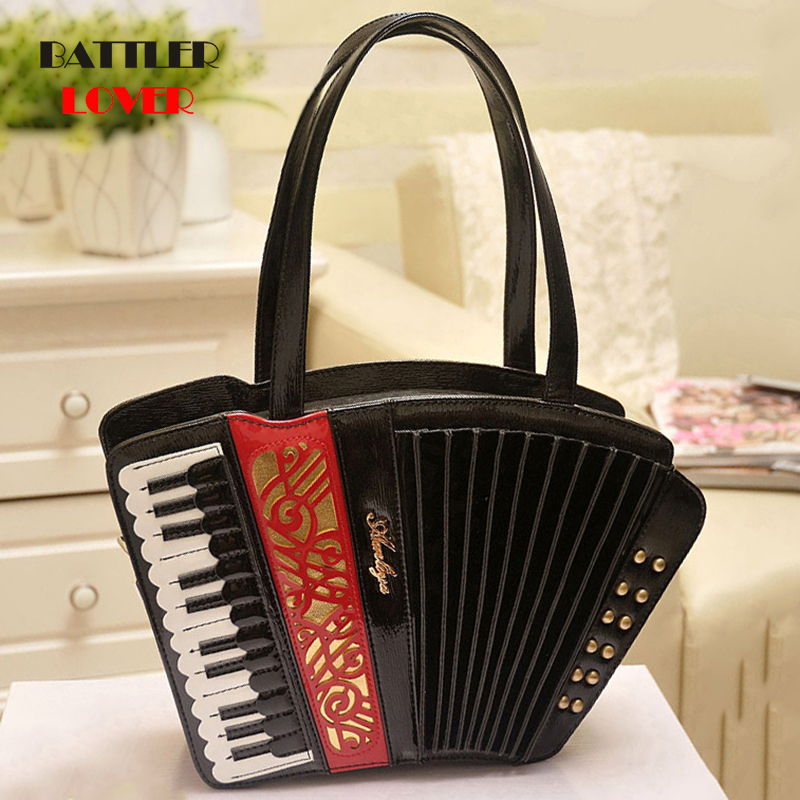 Bolsa Feminina 2019 Ladies Leather Bag For Women Luxury Accordion Shape Handbag Female Rivet Messenger Shoulder Bag Brand Totes