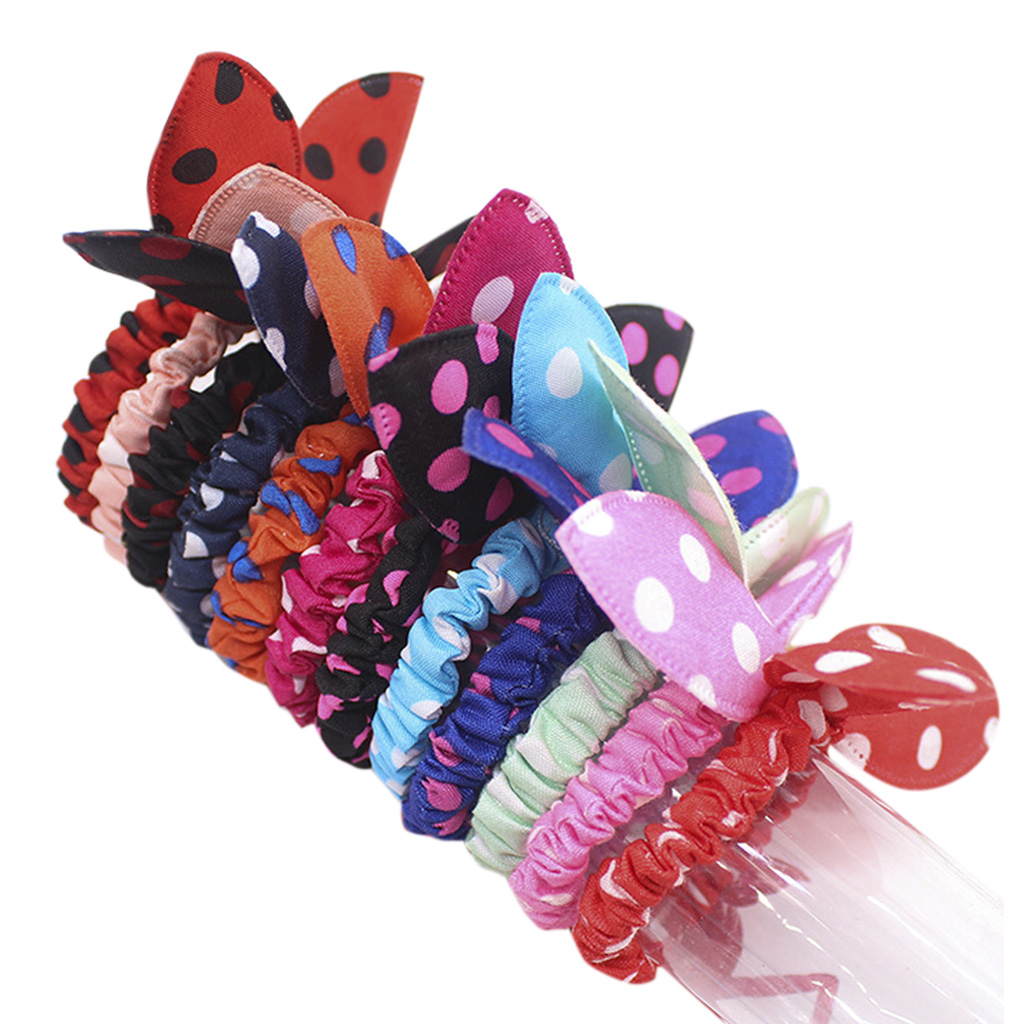 Fashion Dot Cute Baby Girls Hair Accessory Bow Knot Kids Hair Clips Colorful YS4