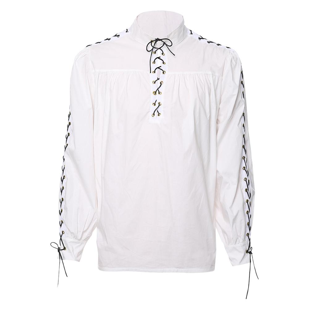 Medieval Renaissance Gothic Adult Men's Warrior Costume Long Sleeve T-shirt