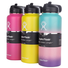 Hydro Flask Tumbler Coffee-Cooler Straw-Lid Travel-Mug Water-Bottle-Wide-Mouth Stainless-Steel