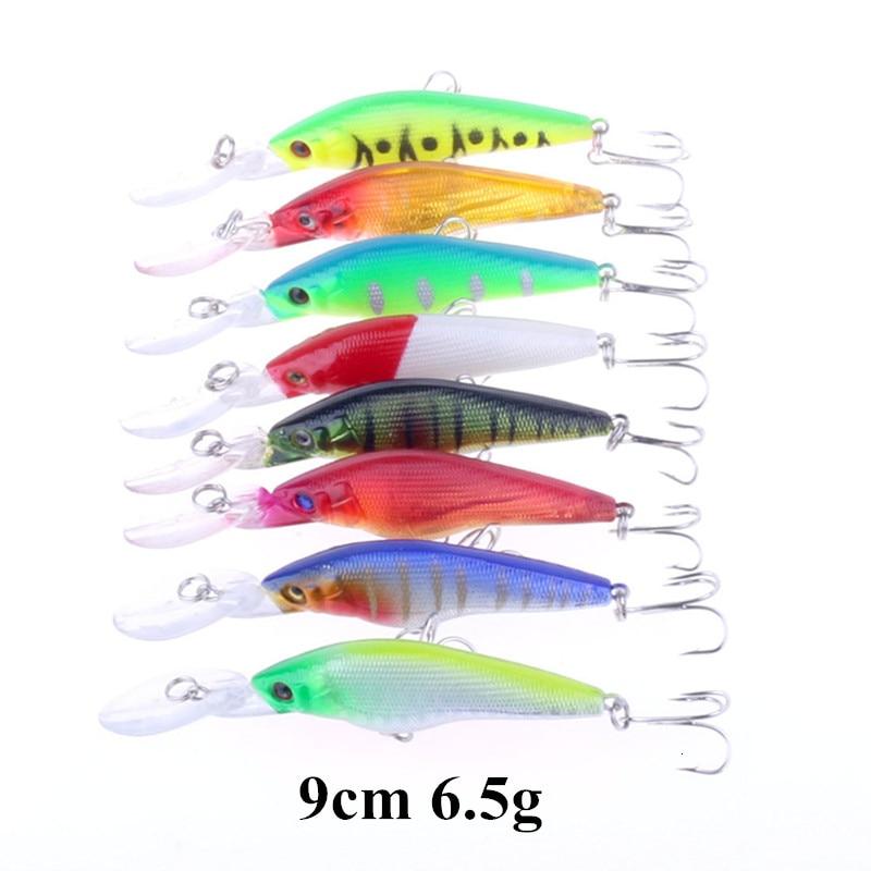 Super Deal Multiple Colors Mini Crankbait Popper Minnow Fishing Lure Hard Plastic Bait with Treble Hook Fishing Accessories (1)