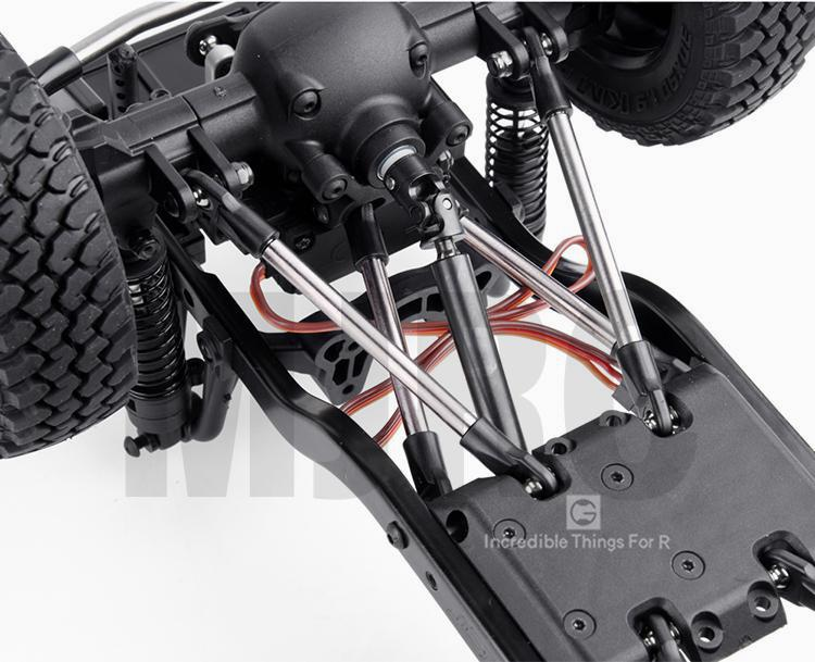 Titanium Alloy Steering Linkage Rod Chassis Linkage Rod for 1//10 MST CFX JIMNY