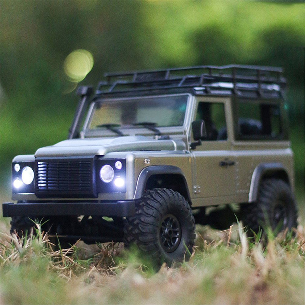 Transportation - 2.4G Four-wheel Drive Climbing Vehicle 4WD Rechargeable Battery Crawler 1/12 LED Lights Vehicle Off Road RC Car