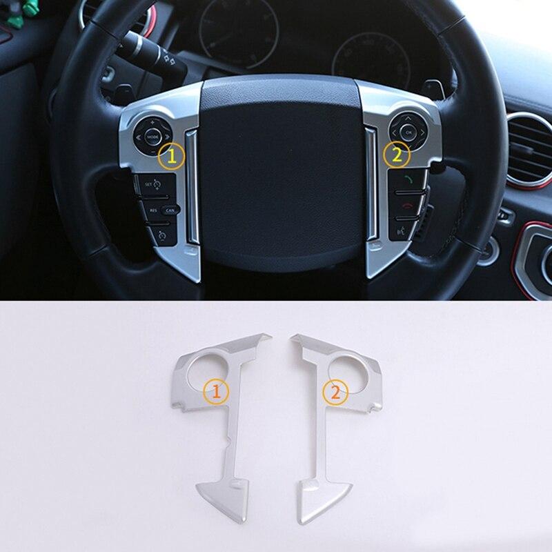 Cimoto ABS Cromo Estilo de Coche Cubierta del Volante Ajuste para Range Rover Sport L320 2010-2013 Accesorios Interior Negro