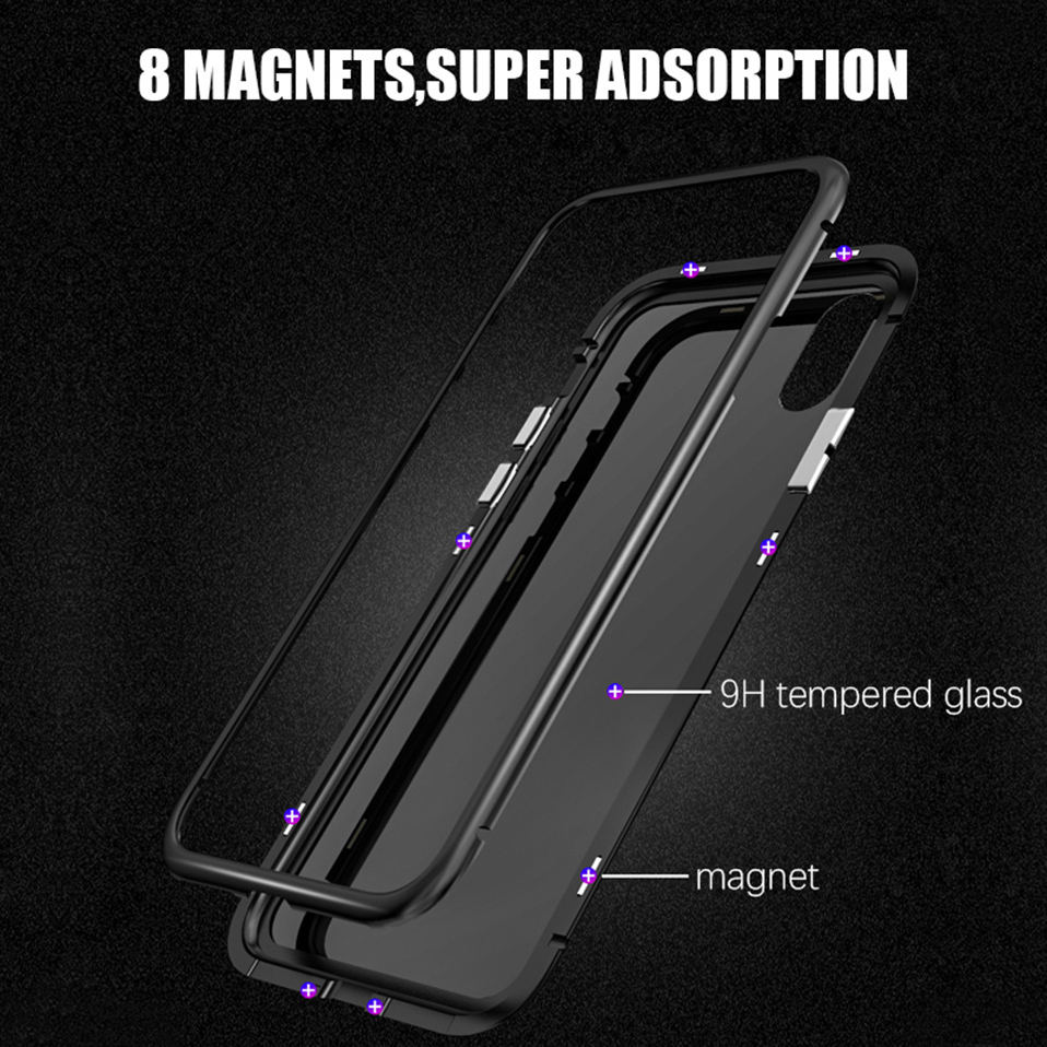 magnetic adsorption metal phone case for iphone 6 6S plus 7 8 plus x xs max xr(3)