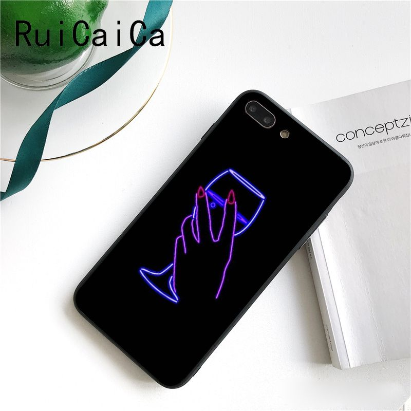 Black background fluorescent small pattern font neon