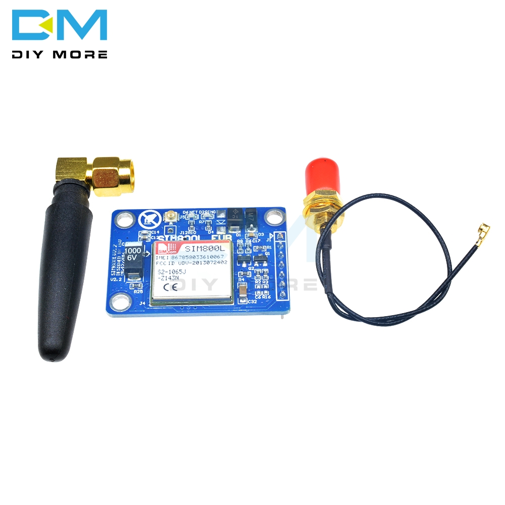 SIM800L V2.2 5V Wireless GSM GPRS MODULE Quad-Band W// Antenna Cable Cap Best