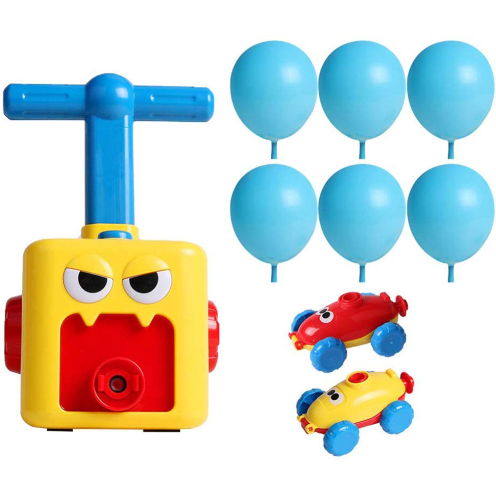 Fun Inertia Balloon Powered Car Toys Aerodynamics Inertial H7U3 Power Gift B2D8