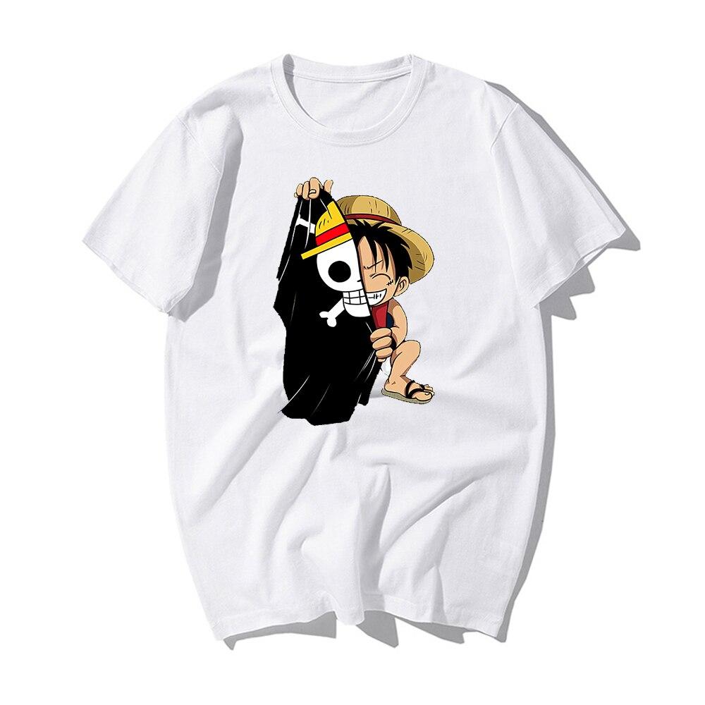 One Piece Luffy T Shirt Casual Tshirt Homme Anime Summer Top Tees Hip Hop Streetwear Man Harajuku T-shirt Men Clothes 2019