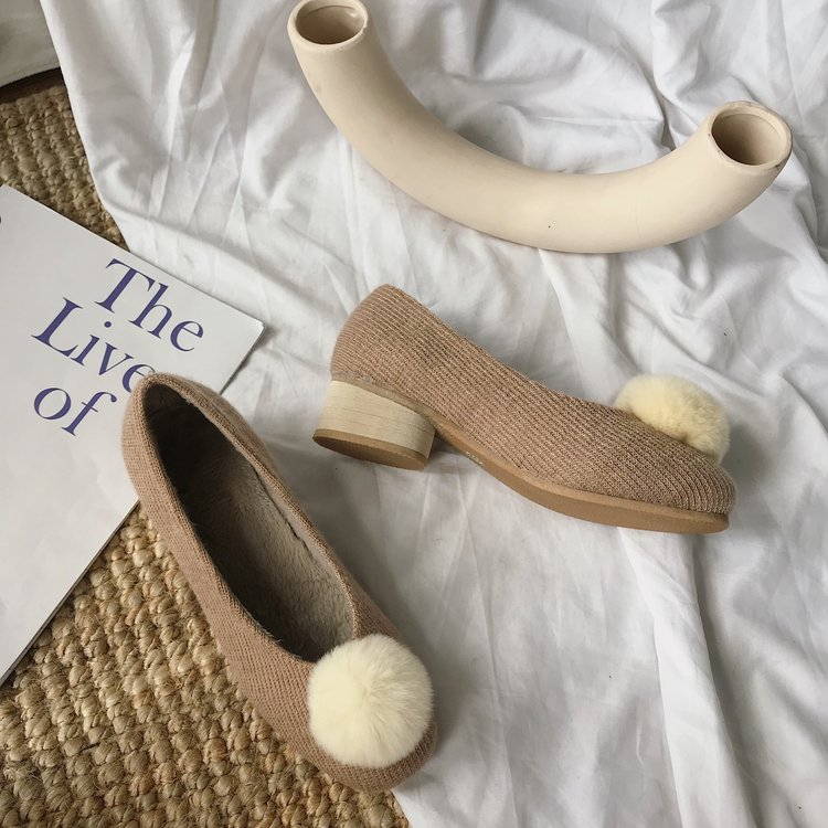 Casual Woman Platform Shoes Women/'s Moccasins Round Toe All-Match Shallow Mouth Loafers Fur Flats Modis Autumn New Nurse Dress