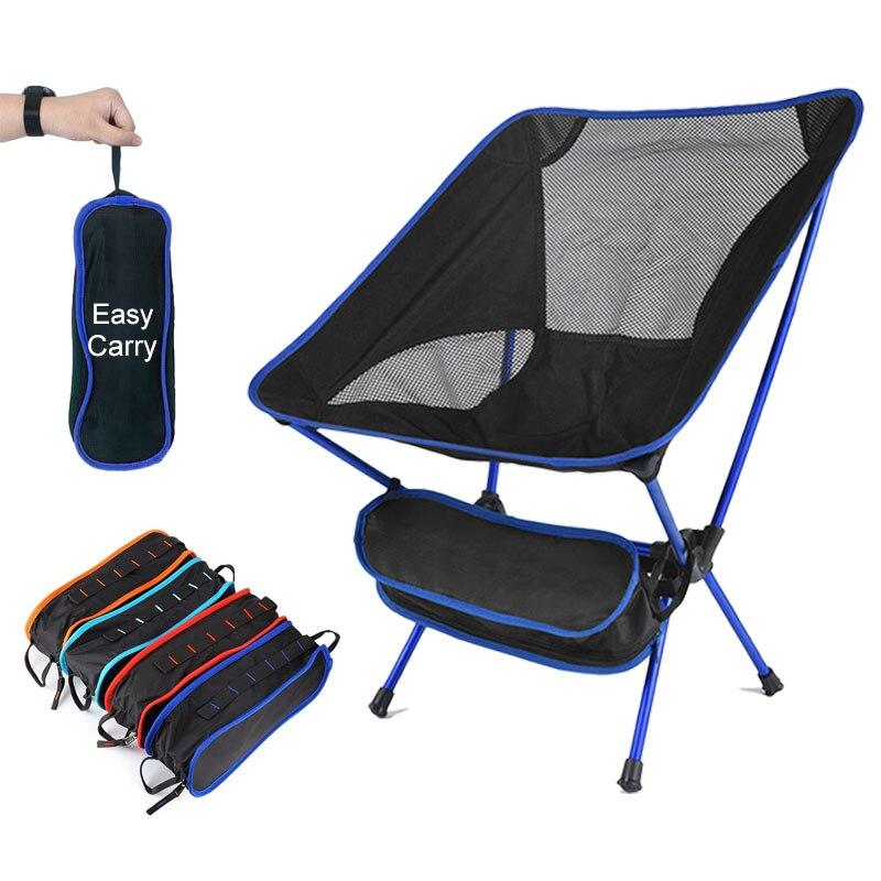 Складной стул для кемпинга, максимальная нагрузка 150 кг, Портативный Легкий стул для офиса, дома, пешего туризма, пикника, барбекю, пляжного отдыха, рыбалки на открытом воздухе