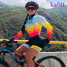 2020-KAFITT triathlon race jersey overalls sports running woman one-piece dress long-sleeved loop suit 9DGEL