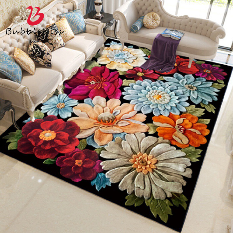 Flower Area Rugs for Home Living Room  Rug for Living Room  Bedroom Carpet  Rugs for Children Rooms  Large Rug Living Room Rugs