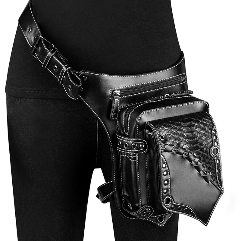 Vintage Steampunk Waist Bag Unisex Steam Punk Retro Rock Gothic Retro Goth Shoulder Bags Packs Hip Hop Motor Women Men Leg Bag