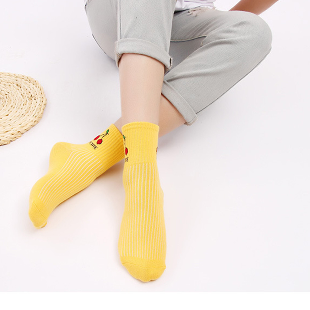 Jaycosin Womens Unisex Cotton Candy Color Block Socks Solid Unique Warm Colorful Casual Comfortable Short Soft Ankle Socks