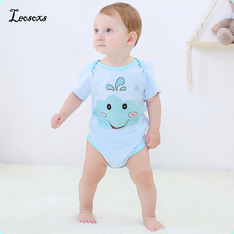 2020 High Quality Cotton Babys Romper Short Sleeve Baby Clothing One Piece Summer Unisex Babys Clothes Girl Boy Jumpsuits Animal
