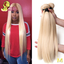 Facebeauty Straight Weave Weft Hair-Bundle Human-Hair Remy 613 Blonde 36-38-40inch 1/3/4-brazilian