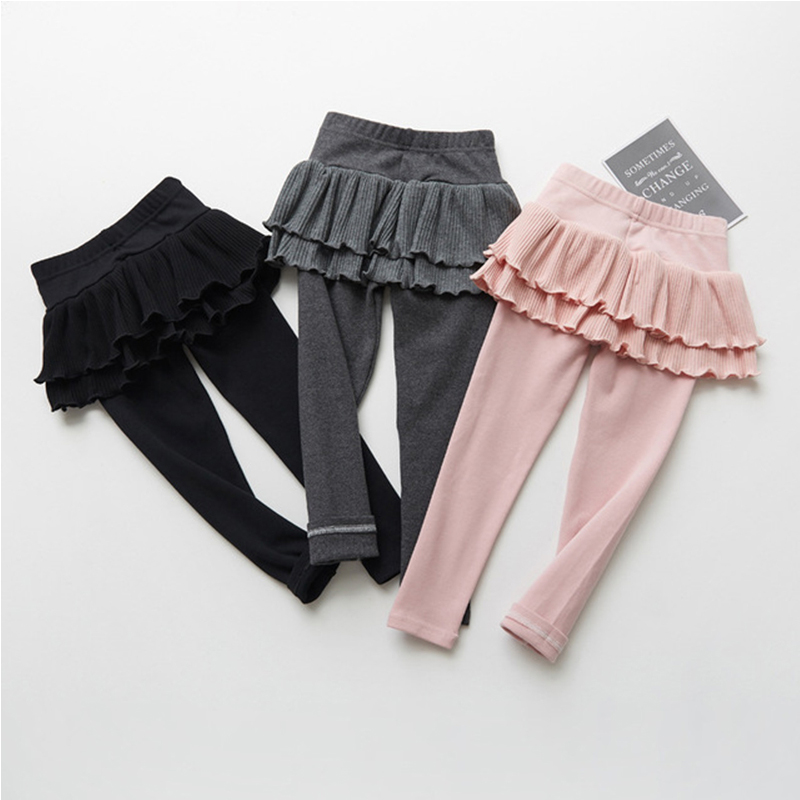 Girls Skirt Leggings Girls Cake Skirt Pants Baby Girl Spring Autumn Warm Leggings Spring Autumn Children Cotton Culottes