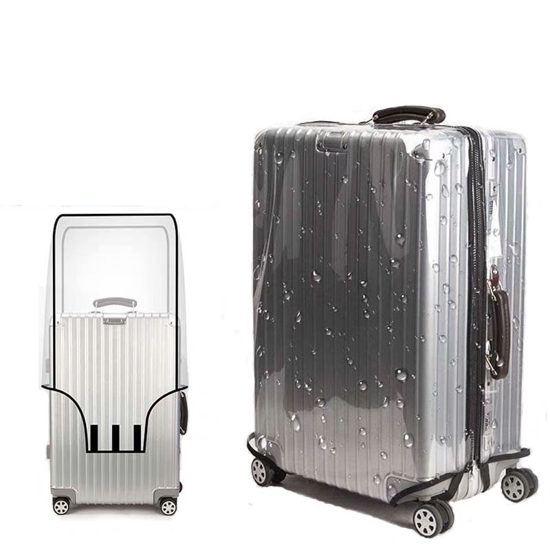 Luggage-Cover Suitcase Travel-Accessories Trolley Transparent Waterproof PVC title=