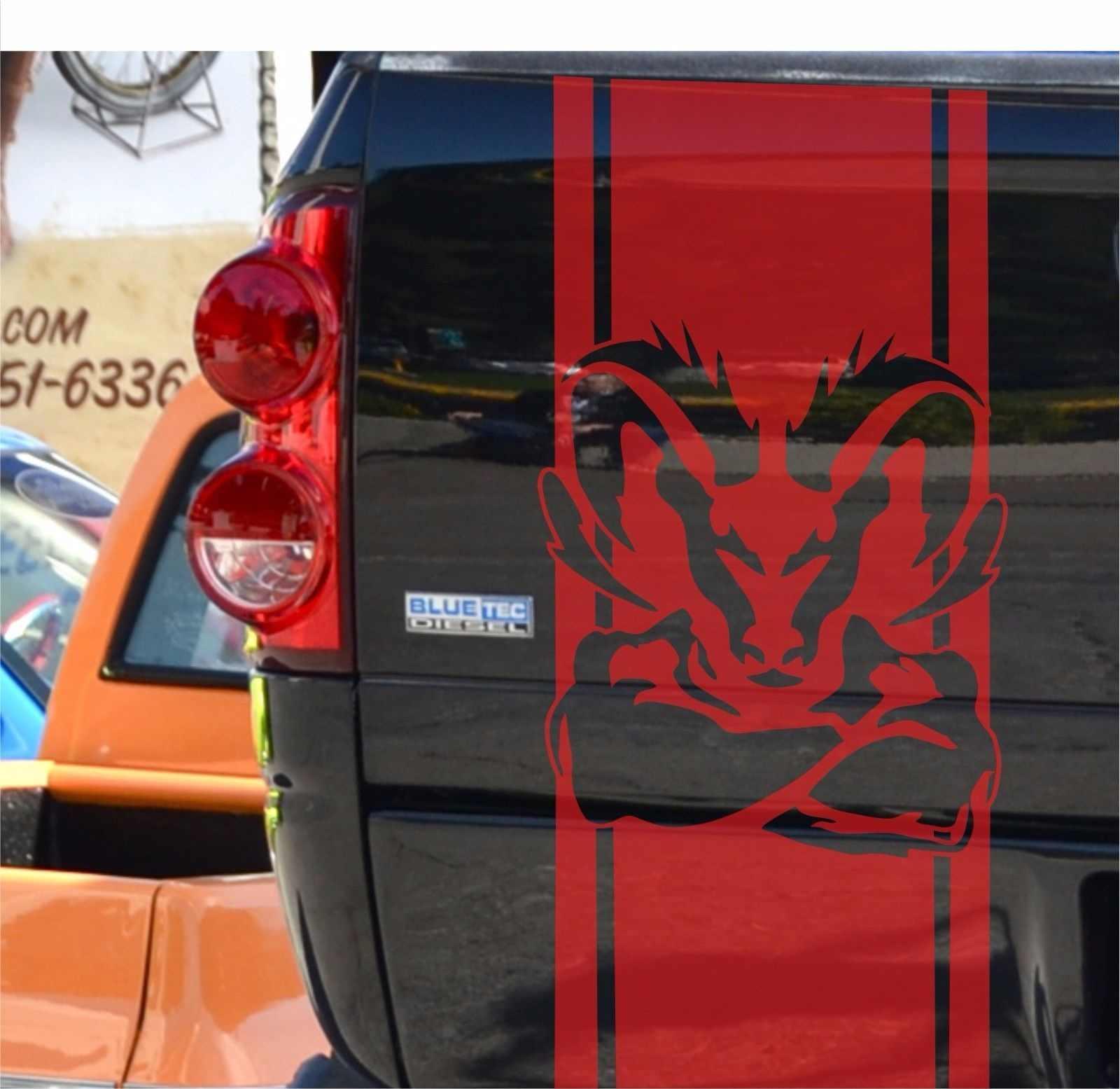 For 2pcs Dodge Ram 1500 5 7 L Vinyl Sticker Tailgate Decal Stripe Mopar Rebel Hemi Logo Car Stickers Aliexpress