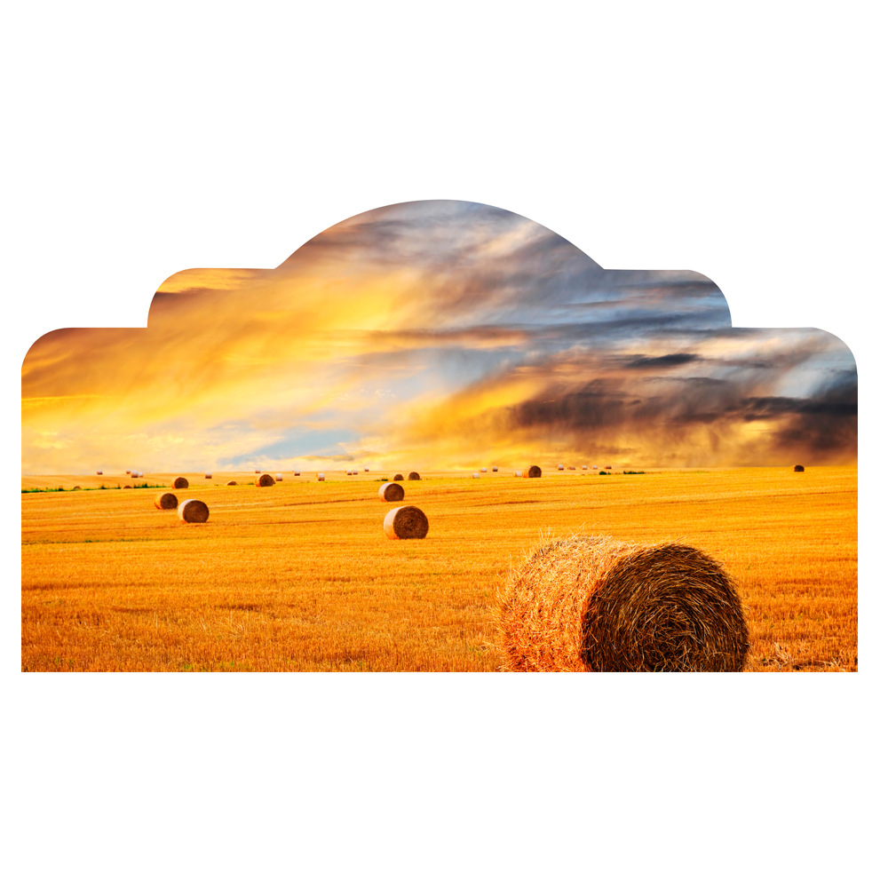 3D Ranch Headboard Decorative Wall Stickers Bedside Background Wall Decals for Kids Rooms Bedroom Home Decor  HBS007