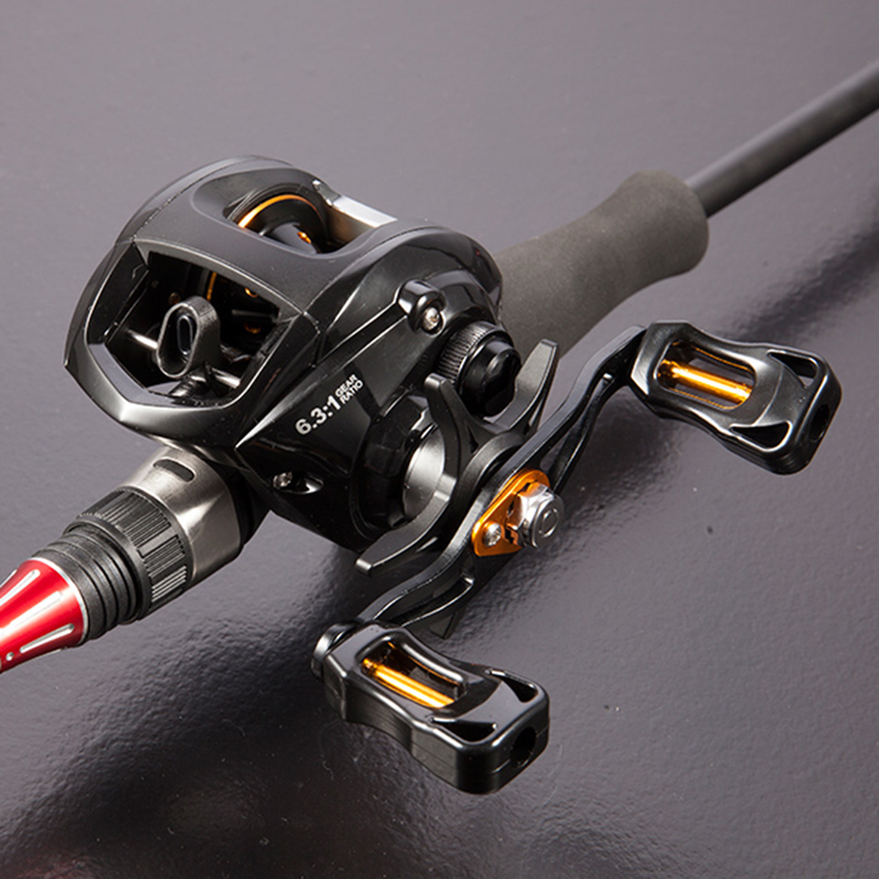 Baitcasting Reel Magnetic-Brake-System Left Max-Drag New 12 with Bass 1BB title=