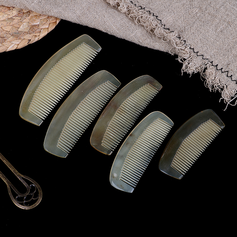 Natural Amber Horn Comb Hairdressing Comb Of Hair No Static Health Care Hair Brush For Hair 5 Sizes Available