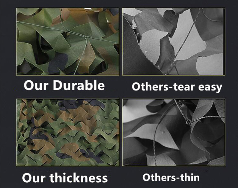 Customized Military Camouflage Net Outdoor Camo Woodland Army Camo Netting Hunting Shooting Fishing Shelter Hide Netting (1)