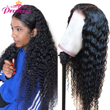 Human-Hair-Wigs Lace-Frontal Princess-Hair Deep-Wave Pre-Plucked Women Brazilian 13x4