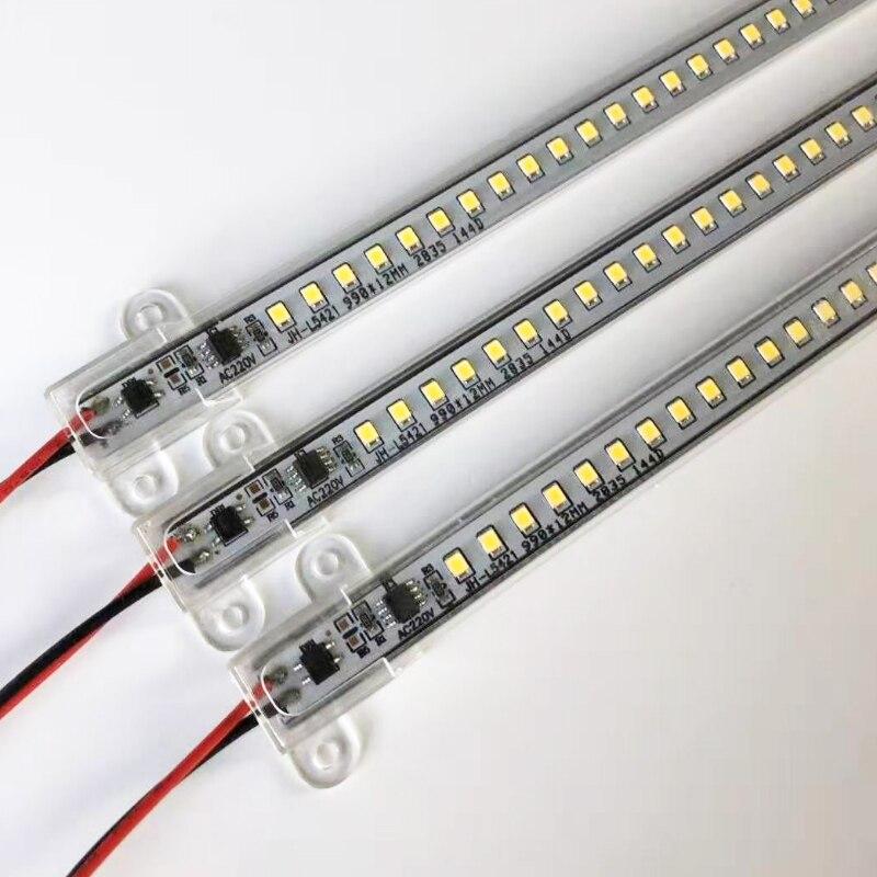 LED Bar Light 220V 30cm 50cm LED Rigid Strip Energy Saving LED Fluorescent Tubes Cold White Warm White 72leds Kitchen Decor