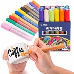 От 12 до 24 Цвета/комплект STA акриловый маркер с перманентной краской ручка для Керамика стекло ROCK фарфоровая кружка дерево Ткань Холст Краски...