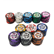 Poker-Chips Texas-Hold'em 14g for Upscale Clay-Set 1PCS New