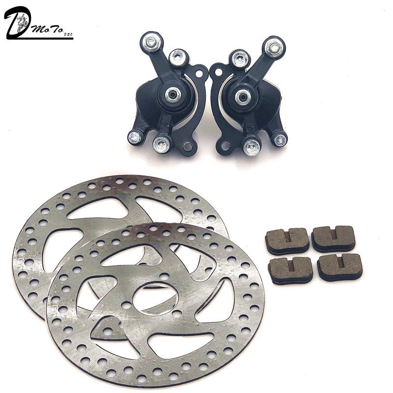 49CC Brake Disc Plate Gas Mini Dirt Bike Rear Disc Brake Caliper Kit 140mm and Friction Plate Rotors Electric Scooter ATV