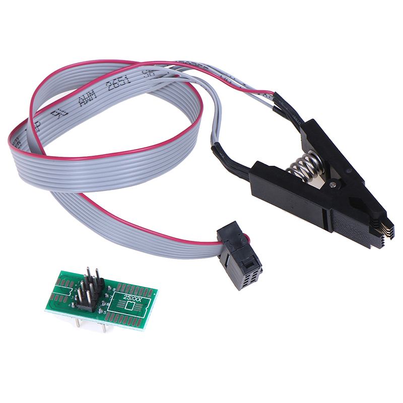 Test Clips Socket Adapter Programmer SOIC//SOP For Bios//24//25//93c Flash Durable
