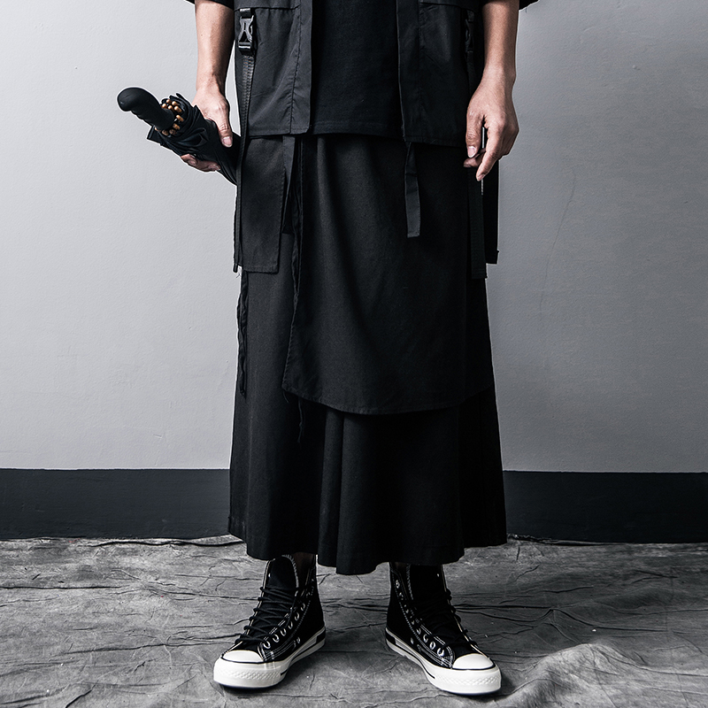 Harajuku Style Mens Wide Leg Pants Leisure Cotton Linen High Quality Men/'s Harem Pants 2020 Summer Sweatpants Male Streetwear