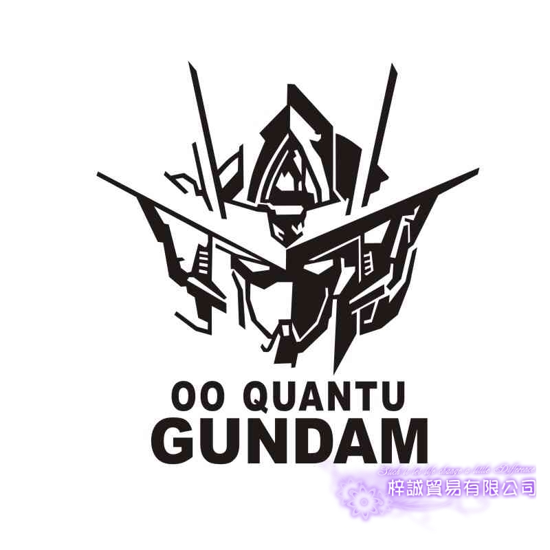 Pegatina GUNDAM Sticker Anime Cartoon Car Decal Sticker 00 Quantu Vinyl Wall Stickers  Decor Home Decoration