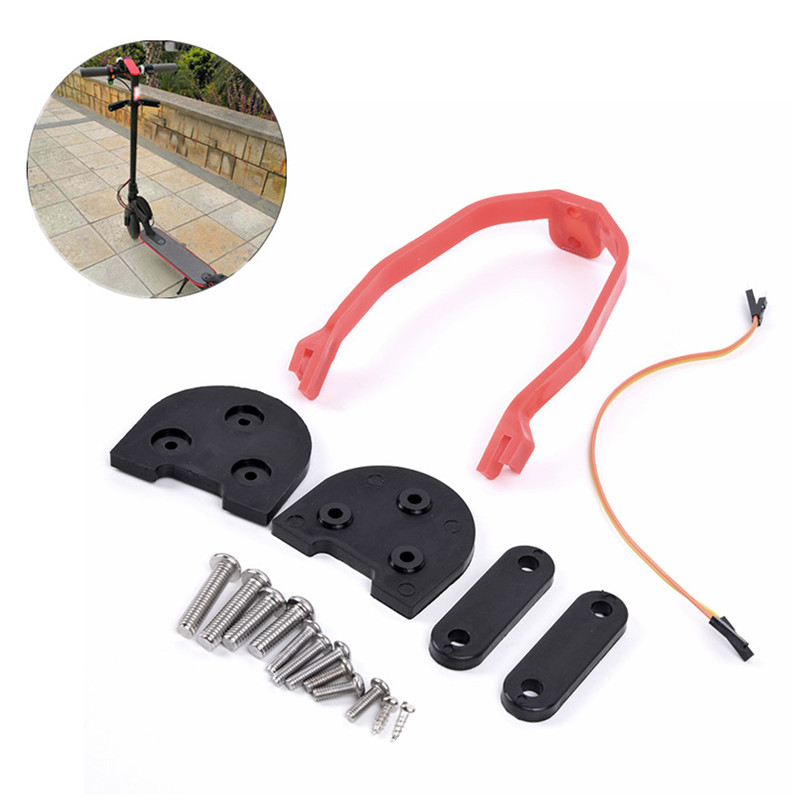 10-inch Tyre Installation Kit Fender Lift For Xiaomi M365 / 187 / Pro Gaskets+Fender gaskets+Fender+LED extender cables+Screws