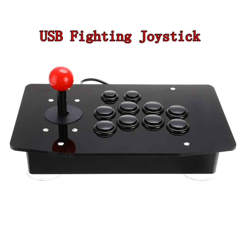 Arcade Joystick Gamepad Consoles Fighting-Stick Video-Game Gaming-Controller 10-Buttons title=
