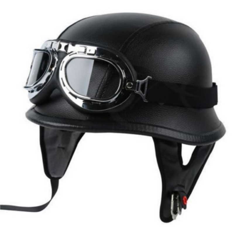 Helmet Motorbike Pilot-Goggles World-War-Ii DOT with Germany title=
