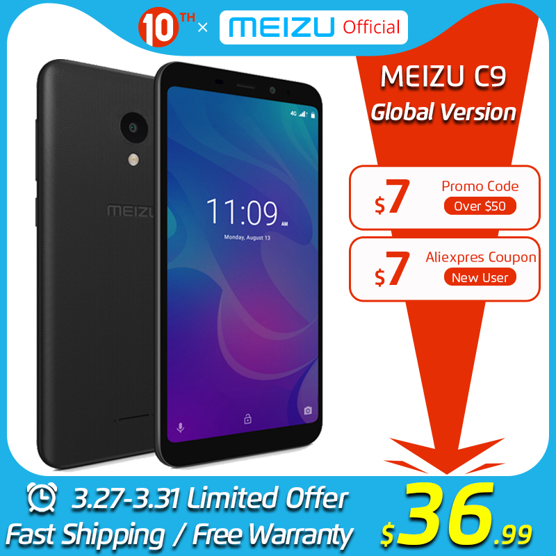 Meizu C9 2GB 16GB GSM/LTE/WCDMA Quad Core 13MP New Mobile-Phone Camera Battery Global-Version title=