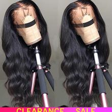 Human-Hair-Wigs Lace-Front-Wig Free-Part Body-Wave Pre-Plucked Black-Women Brazilian