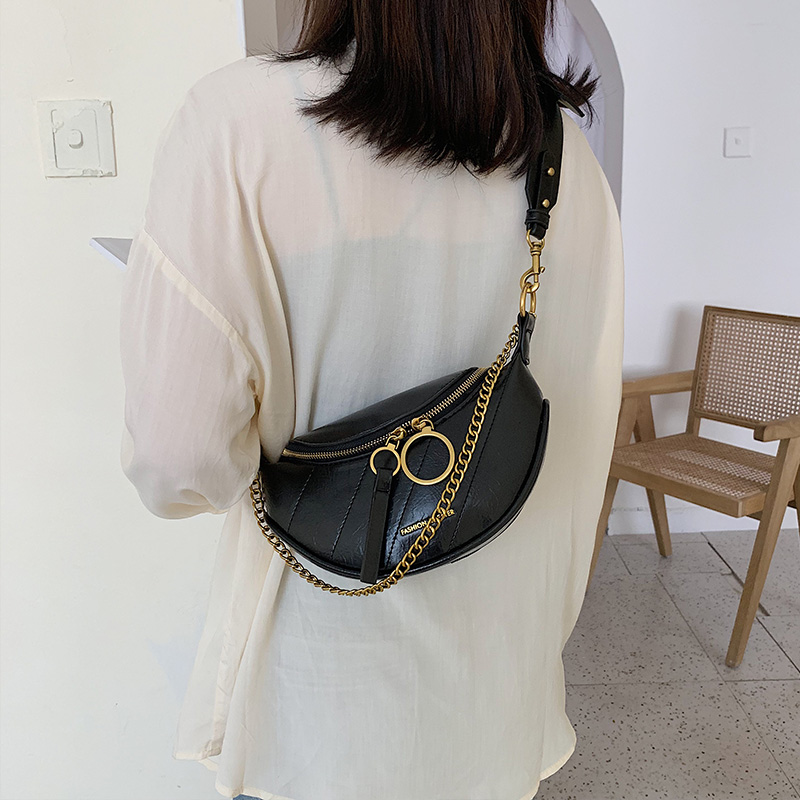 Autumn and Winter Ins Bag Women 2019 New Waist Bag Fashion Chain One Shoulder Cross Body Chest Bag