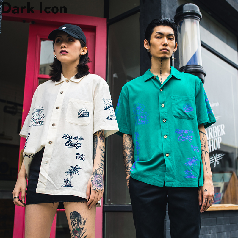 Dark Icon Vintage Cuba Shirt Men Women Street Fashion Men/'s Shirt 2020 Summer Shirts for Man
